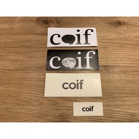 coif mix ステッカーコンボ(4枚セット&缶バッジ)